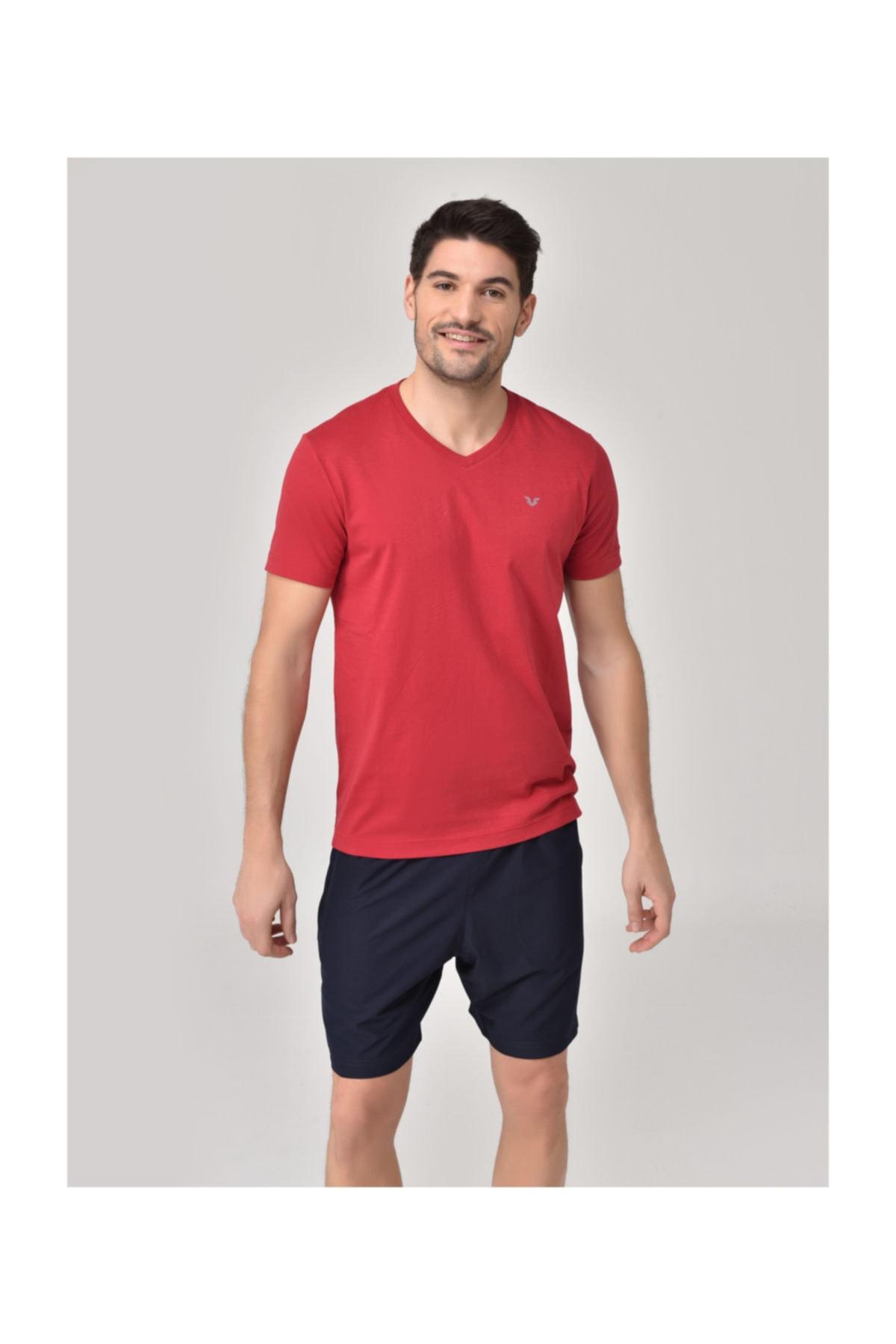 bilcee Kırmızı Erkek T-Shirt GS-8898 1
