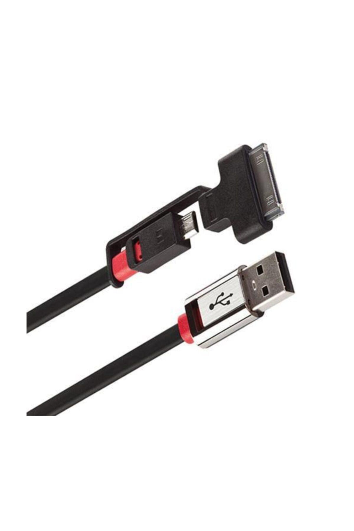 MONSTER Icable Mobile Micro Usb - Apple 30pin Şarj Kablosu 1 m 1