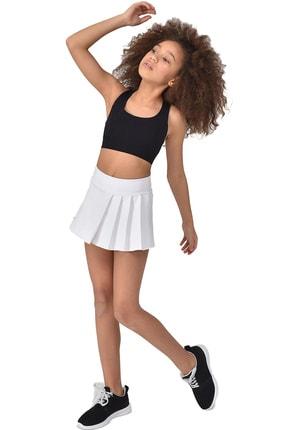 bilcee Beyaz Kız Çocuk Şort Etek GS-8161