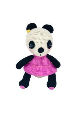 Aysun Yıldız Konbul Amigurumi Organik Örgü Oyuncak Uyku Arkadaşı Panda