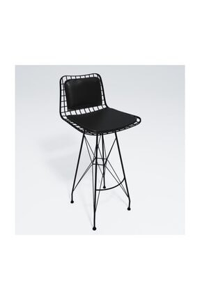 Kenzlife kafes tel bar sandalyesi 1 li zengin syhsyh sırt minderli ofis cafe bahçe mutfak