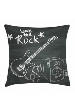 Orange Venue Gitar Minder Kılıfı Rock Yapmayı Sevmek Temalı Yazılı Görsel