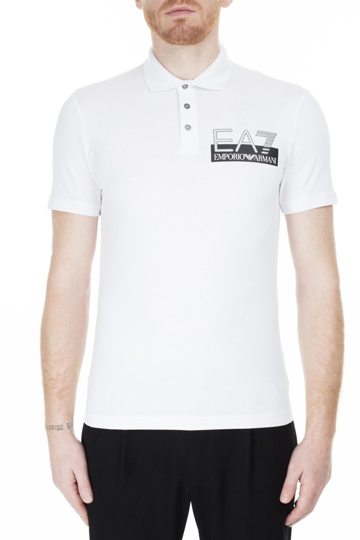 EA7 Regular Fit Polo T Shirt Erkek Polo S 6Gpf16 Pj03Z 1100 1