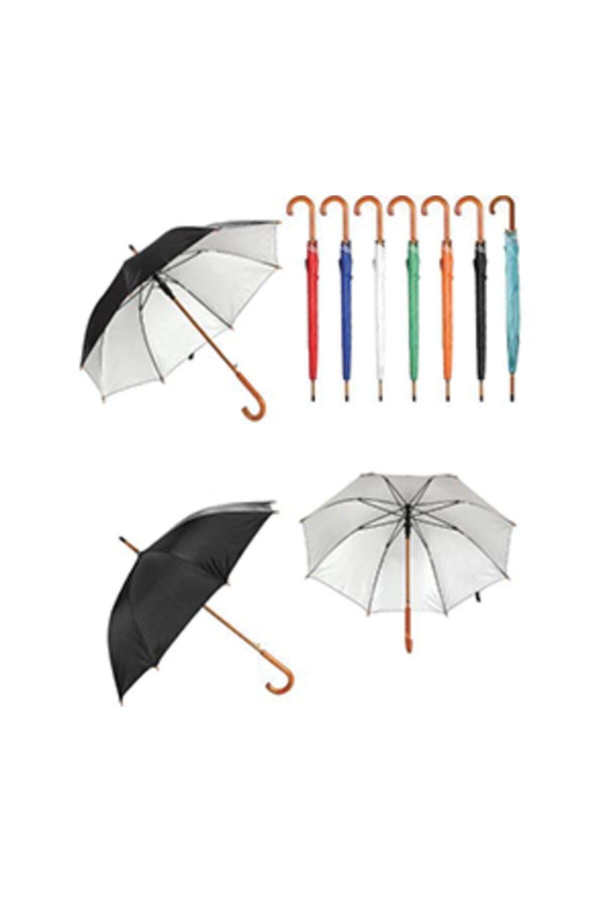 TREND Ahşap Saplı Fiber Glass Kırılmaz Şemsiye (siyah) 2