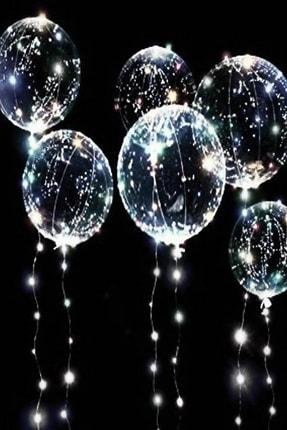 KozmoParti Şeffaf Balon Led Işıklı 24 Inch