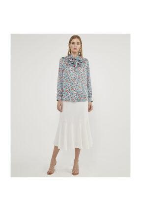 Aker Kadın Karpuz Desenli Bluz V23150157