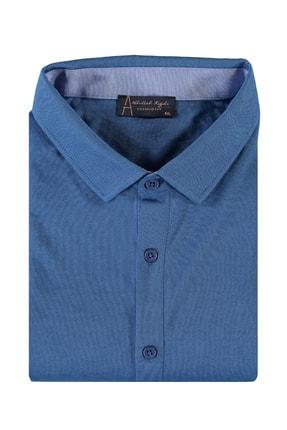 Kiğılı Erkek Mavi King Size Polo Yaka Gömlek Model Tişört 94573
