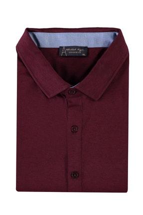 Kiğılı Erkek Koyu Bordo King Size Polo Yaka Gömlek Model Tişört 94573