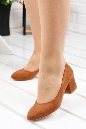 Ayakland Kadın Topuklu Lüx Süet Ayakkabı 5 cm 97544-312