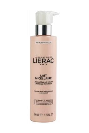 Lierac Tüm Cilt Tipleri için Çift Etkili Temizleyici - Micellar Milk Double Cleanser 200 ml 3508240001261