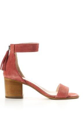 Louis Cardy Clea  Mercan  Hakiki Süet Kadın Klasik Topuklu Ayakkabı