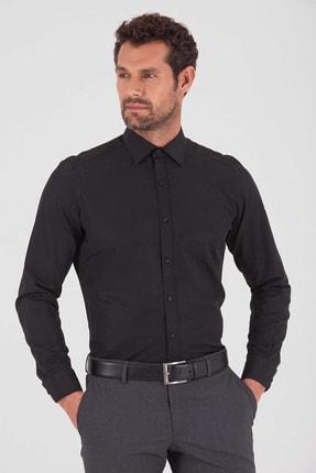 Hatemoğlu Desenli  Regular Siyah  Gömlek 19D190000135