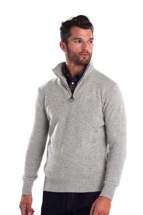 Barbour Essential Lambswool Half Zip Grey