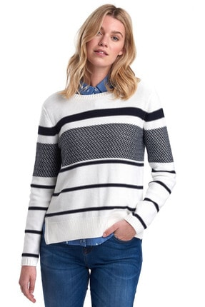 Barbour Paddle Knit Off White