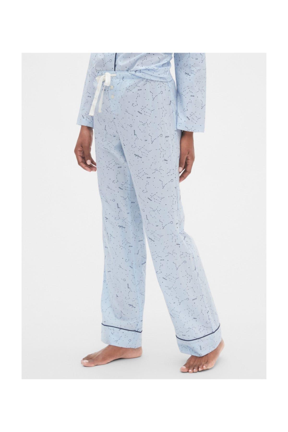 GAP Desenli Poplin Pijama Altı 1