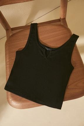 TRENDYOLMİLLA Siyah Basic Örme Atlet TWOSS20AL0092