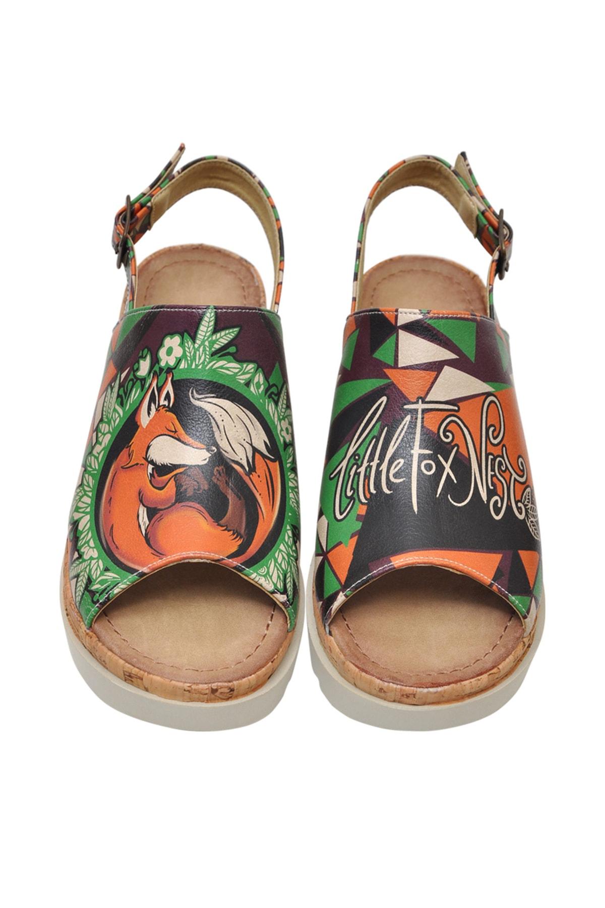 Dogo Little Fox Nest Kadın Kalın Tabanlı Düz Sandalet dgs019-gg011 1