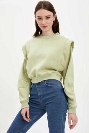 DeFacto Kadın Turkuaz Regular Fit Sweatshirt R5656AZ.20SM.TR29