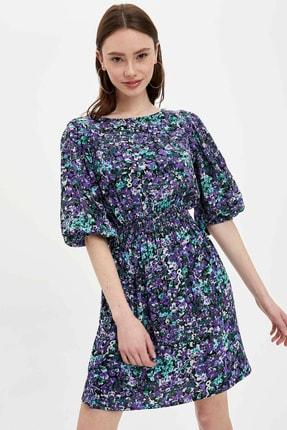 DeFacto Kadın Pembe Regular Fit Dokuma Elbise R5574AZ.20SP.PN1