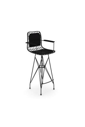 Kenzlife Knsz Kafes Tel Bar Sandalyesi 1 Li Zengin Syhsyh Kolçaklı Sırt Minderli Ofis Cafe Bahçe Mutfak