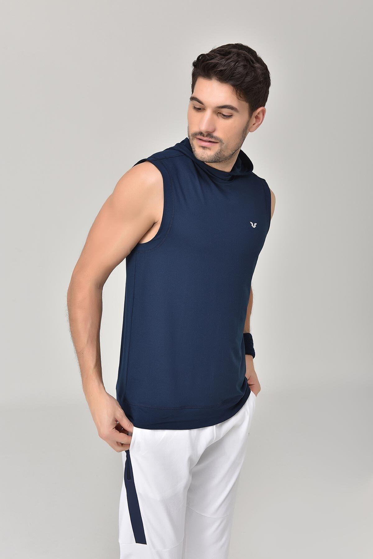 bilcee Lacivert Erkek Örme Atlet GS-1251 1