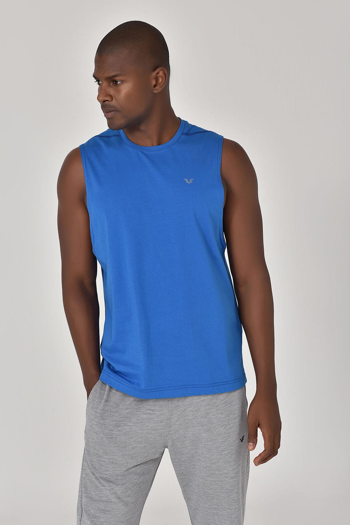 bilcee Mavi Erkek Örme Atlet GS-1622 1