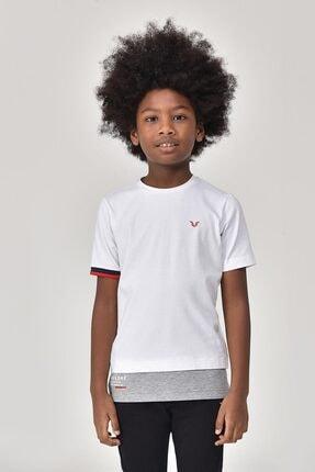 bilcee Beyaz Erkek Çocuk T-Shirt GS-8163