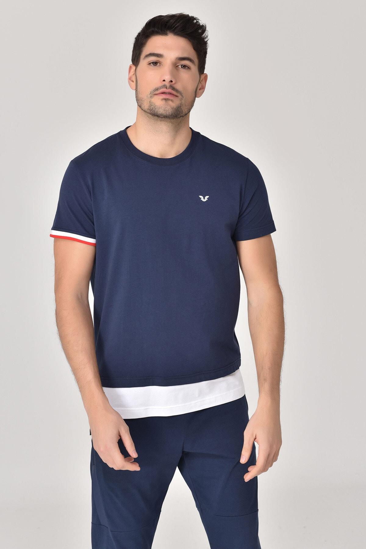 bilcee Lacivert Erkek T-Shirt GS-8887 1