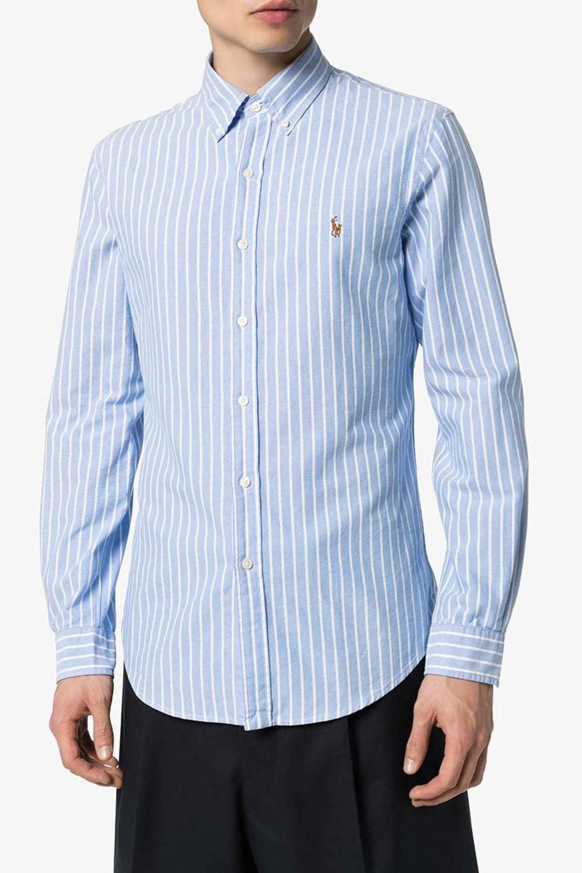 Polo Ralph Lauren Erkek Mavi Gömlek 4483975217204 2