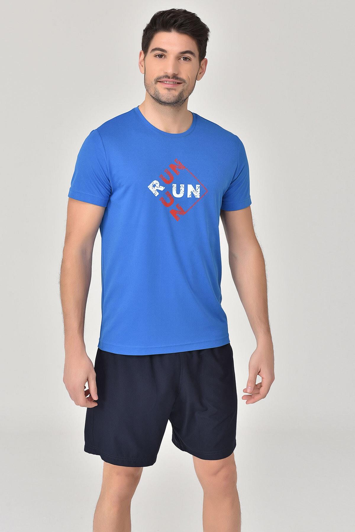 bilcee Mavi Erkek T-Shirt GS-8805 1