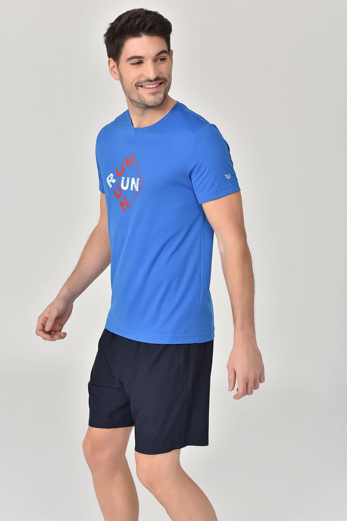 bilcee Mavi Erkek T-Shirt GS-8805 2