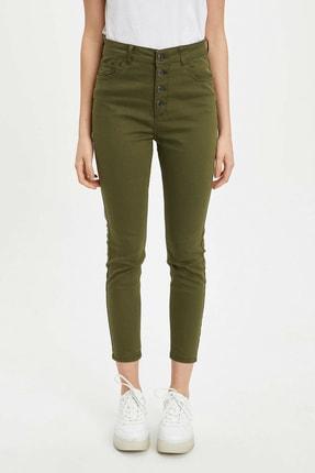 DeFacto Kadın Haki Anna Ankle Super Skinny Fit Pantolon N2696AZ.20SP.KH117
