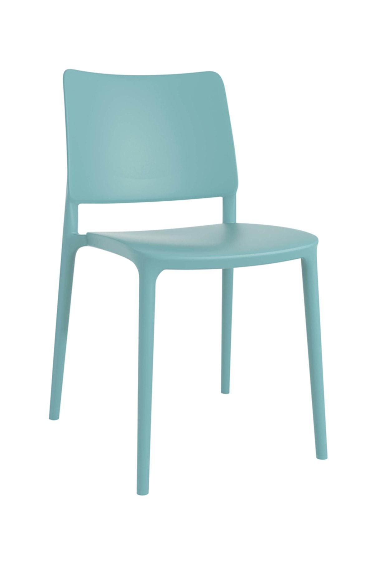 Papatya Joy Sandalye Turkuaz - Mutfak Sandalyesi - Kolçaksız
