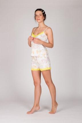 Hays Kadın Sarı Sarı Dantel Detaylı Atlet