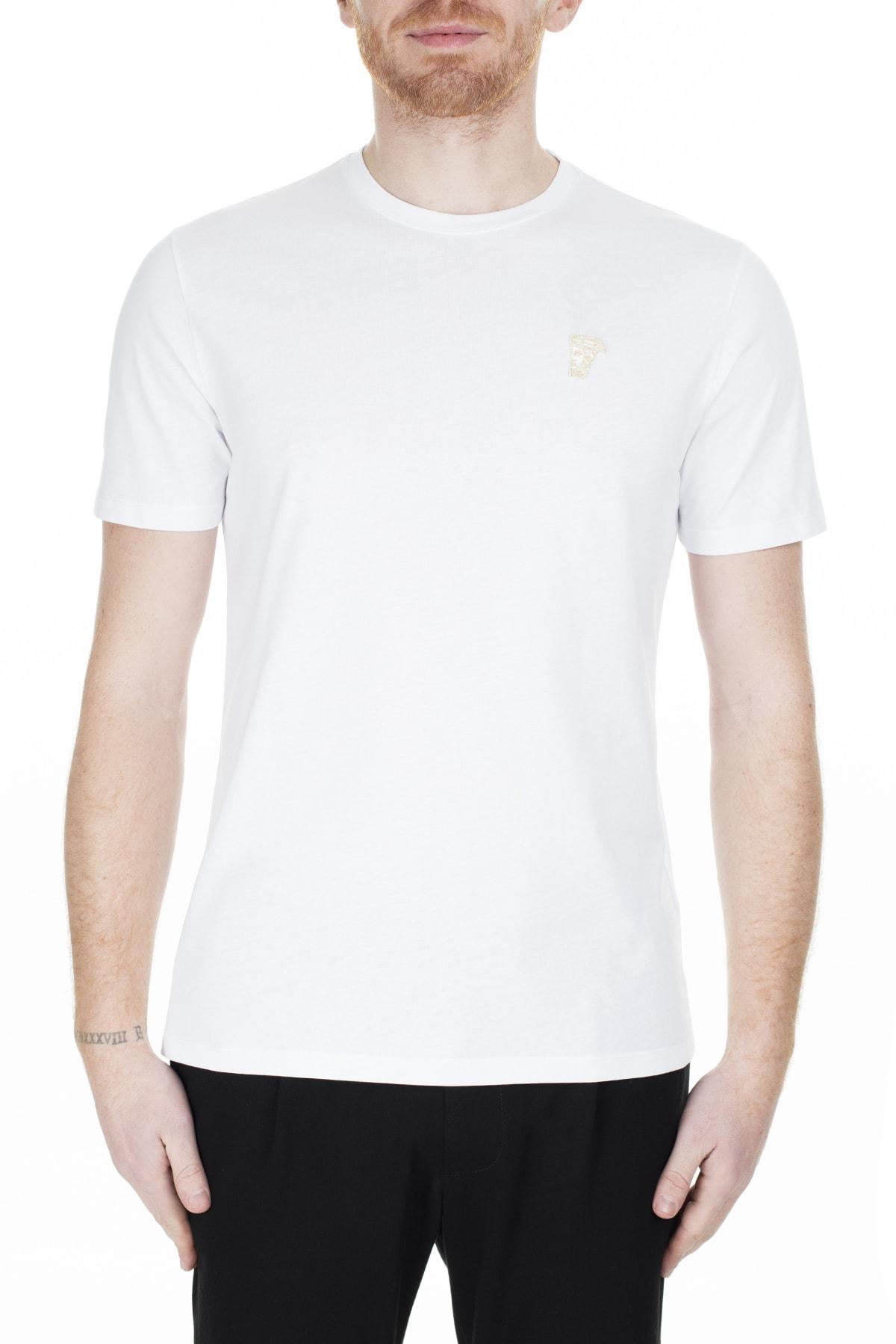 VERSACE COLLECTION Erkek Beyaz T-Shirt V800683R Vj00180 V9052