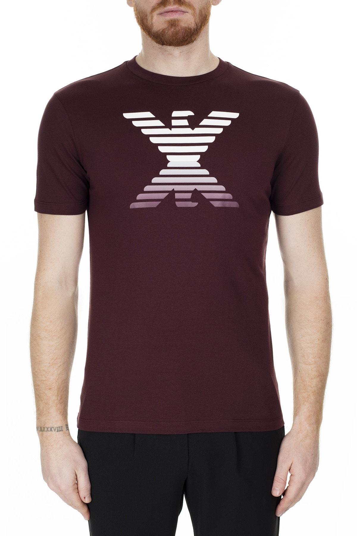 Emporio Armani Bordo Erkek T-Shirt