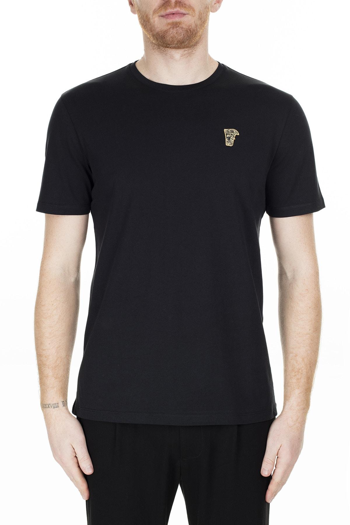 VERSACE COLLECTION Erkek Siyah T-Shirt V800683R Vj00180 V9001