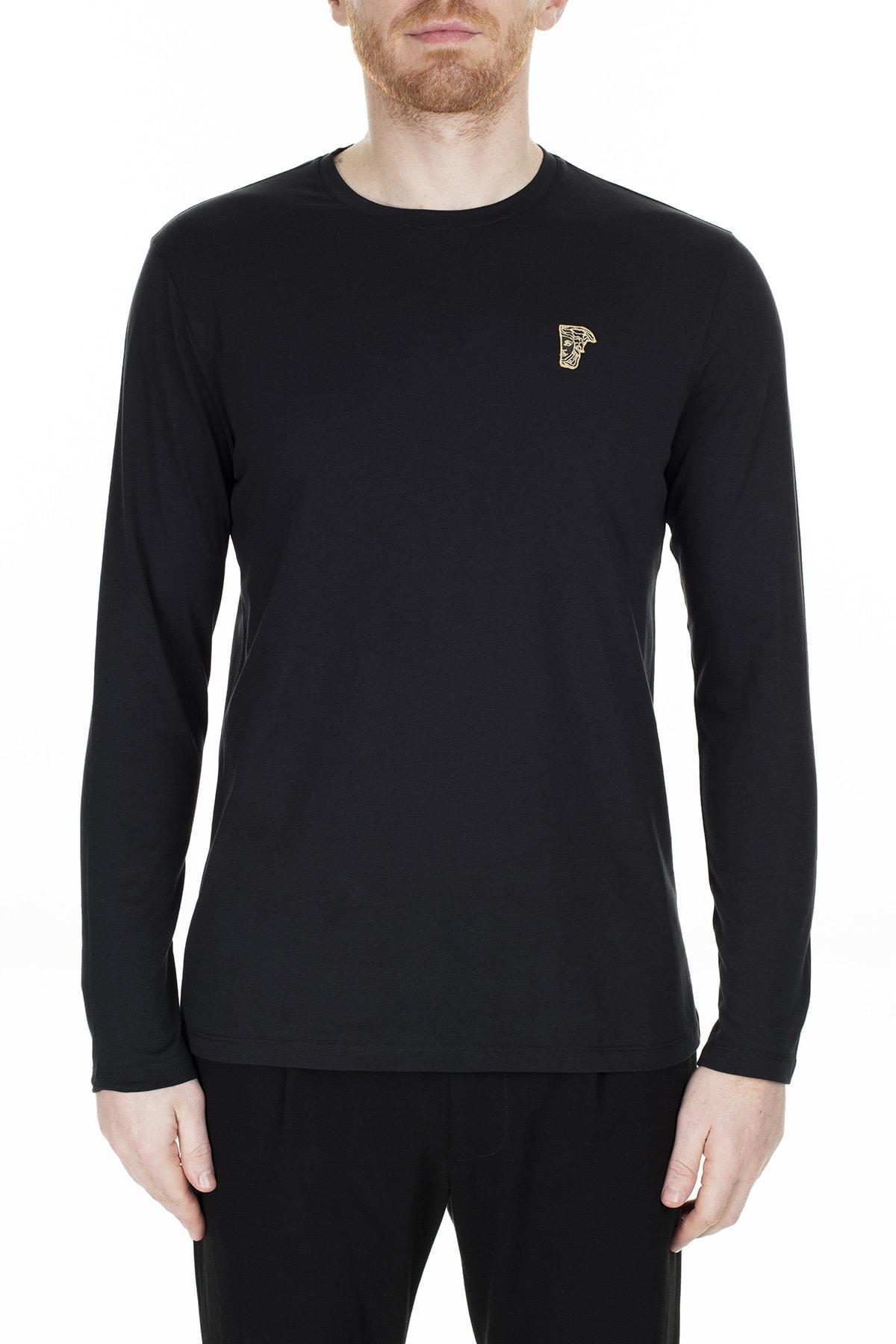 VERSACE COLLECTION Erkek Siyah Sweatshirt V800491R Vj00180 V9001