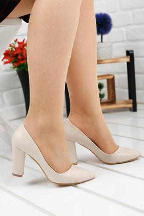 Ayakland 137029-311 Günlük 8 Cm Topuk Bayan Cilt Ayakkabı
