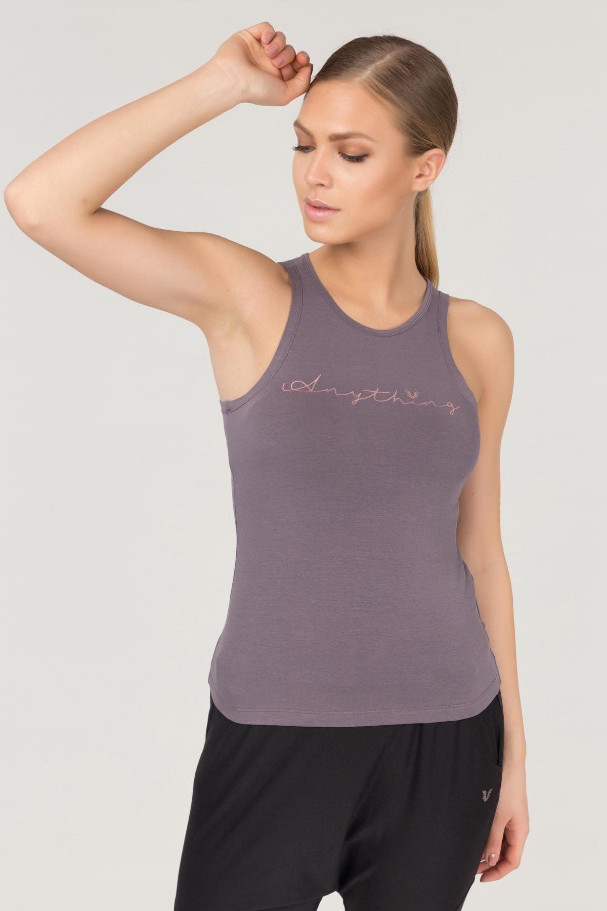 bilcee Mor Pamuklu Yoga Kadın Atleti FS-4018 1