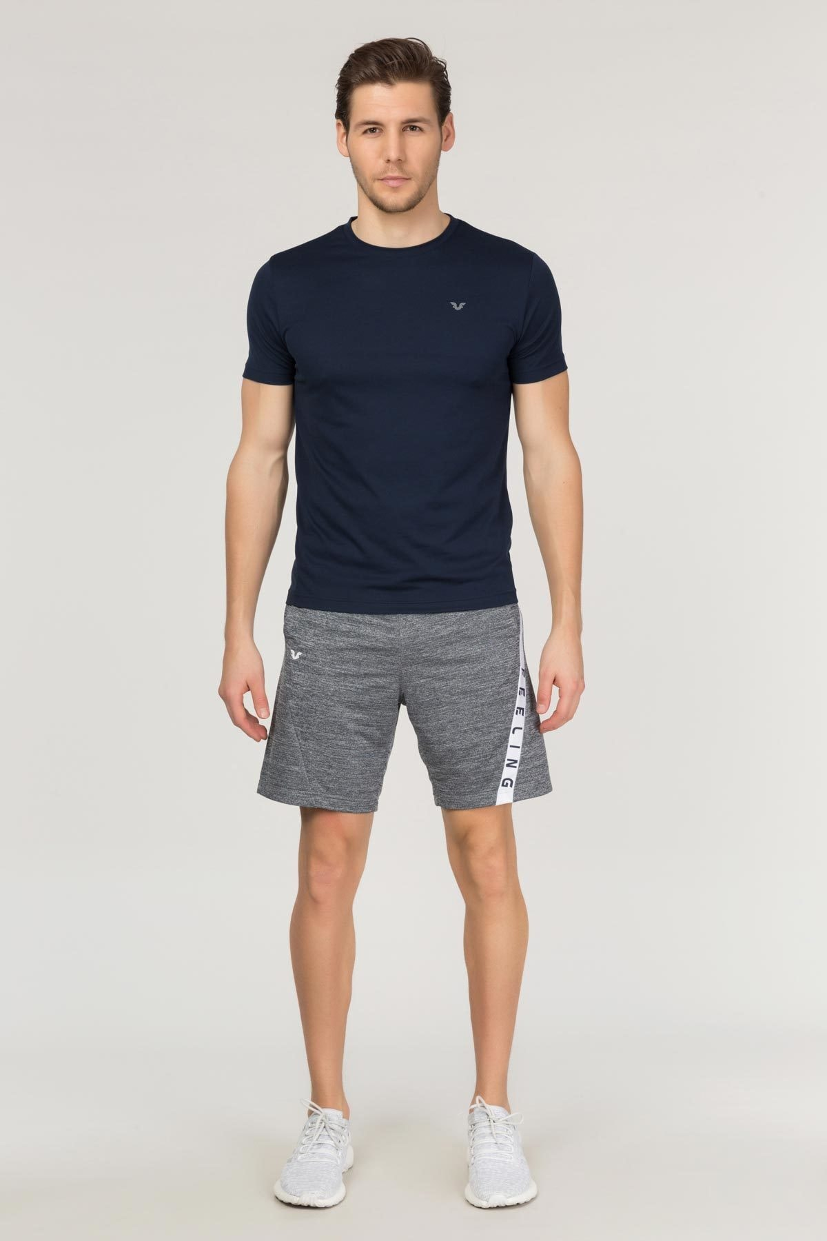 bilcee Lacivert Erkek Antrenman T-Shirt FS-1332 1