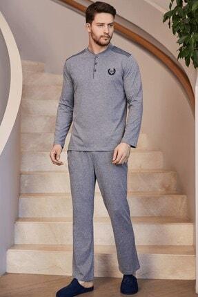 Mecit Pijama 2750 Büyük Beden Erkek Pijama Takımı - Gri