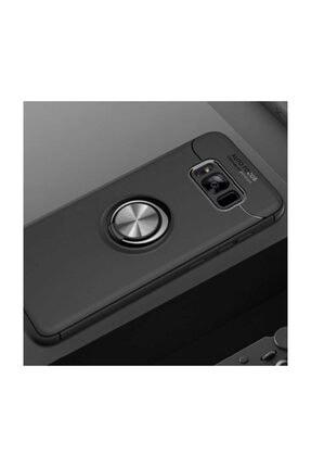 Samsung Galaxy S8 Plus Kılıf Yüzüklü Standlı Mıknatıslı+ekran Koruyucu Süper Pet Film