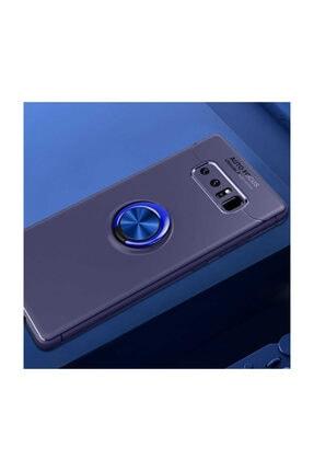 Samsung Galaxy Note 8 Kılıf Yüzüklü Standlı Mıknatıslı+ekran Koruyucu Süper Pet Film