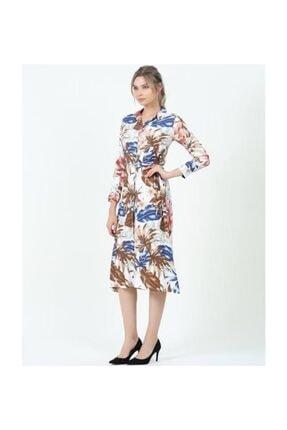 Misela Kadın  Kısakol Çiçekli Desenli Elbise