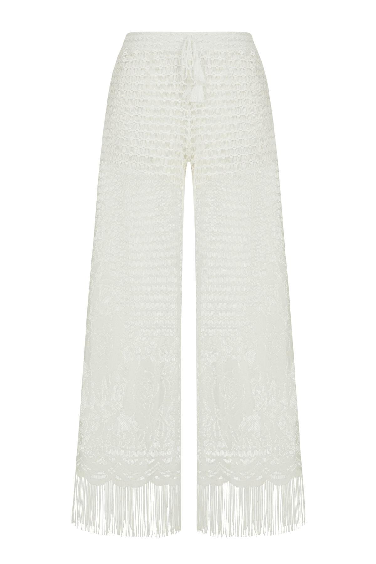 Penti Kadın Beyaz Lace Pantolon 1