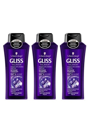 SCHWARZKOPF HAIR MASCARA Gliss Intense Therapy Şampuan 360 ml X 3 Adet