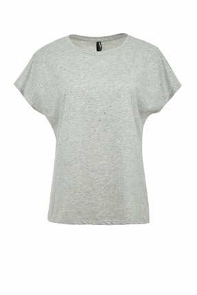 DeFacto Kadın Gri Regular Fit Kısa Kollu T-Shirt R3704AZ.20SP.GR210