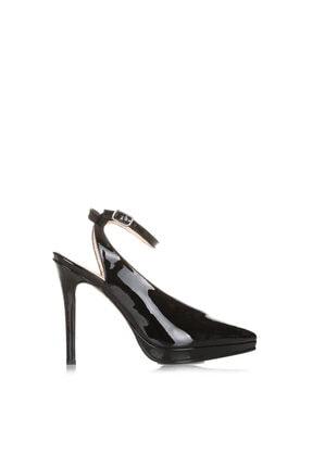 Cengiz Gümüş Siyah Rugan Kadın Dans Ayakkabısı