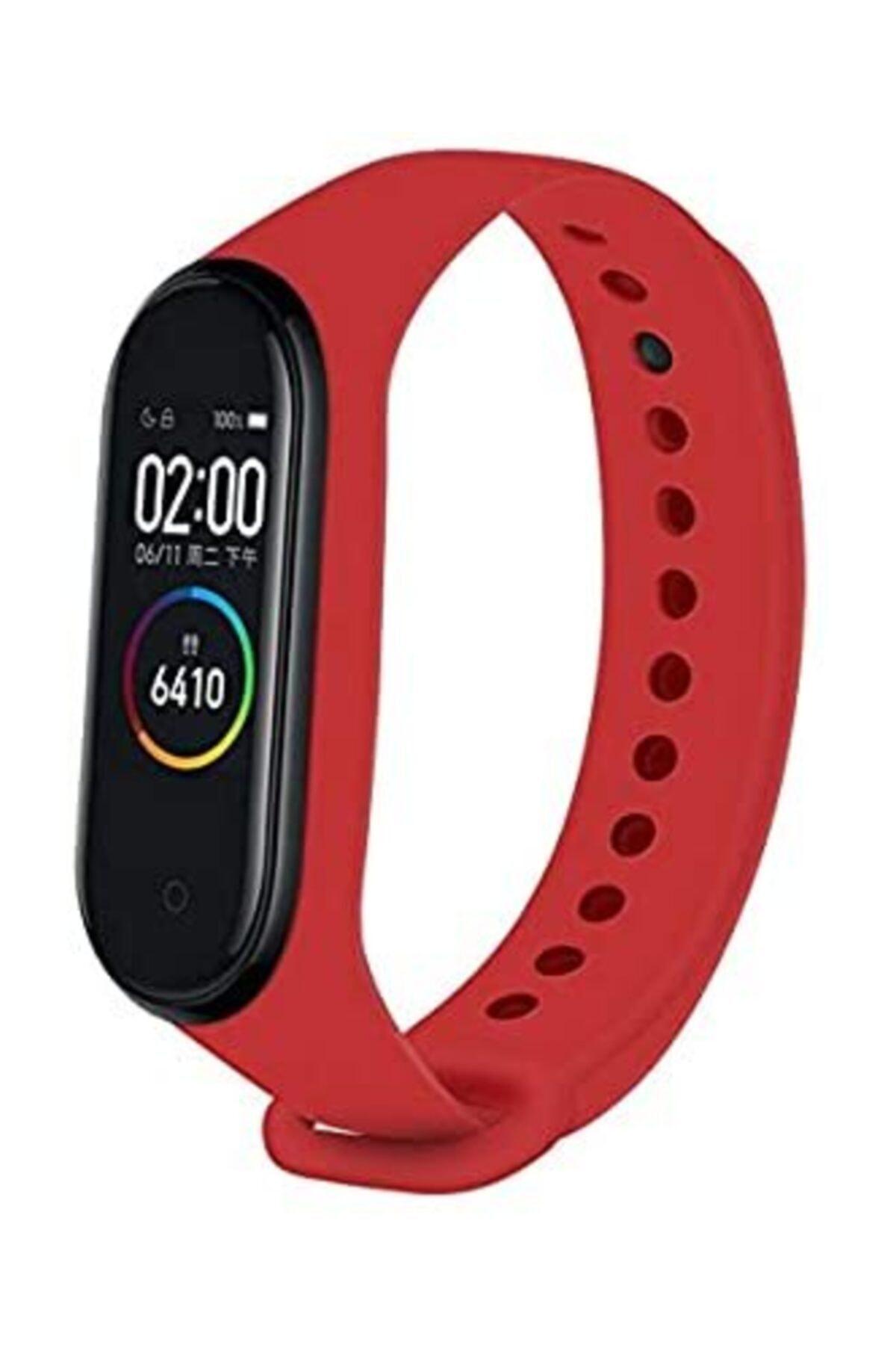 Teknoloji Adım Mi Band 4 Akıllı Bileklik Kordon Kırmızı 1